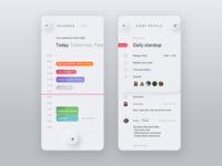 Neumorph Calendar App Concept