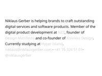 niklausgerber.com