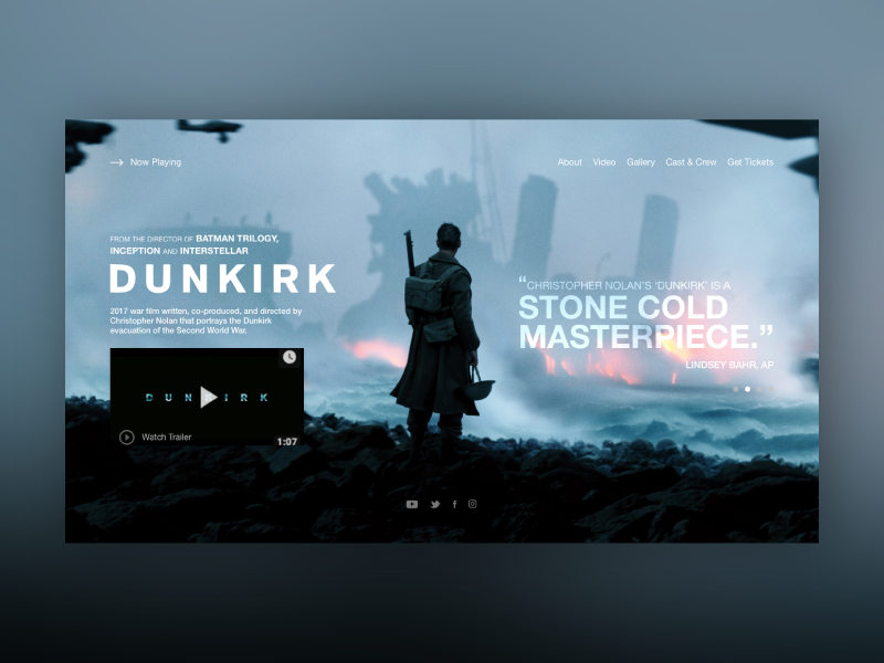 Movie Card UI_Dunkirk