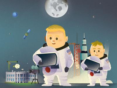 Moonwalkers illustrator astute graphics vector magazine kids illustration illustration cartoon character moon