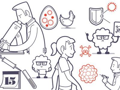 Medical Journal Illustrations for Infographics ligne claire vector magazine print illustrator illustration