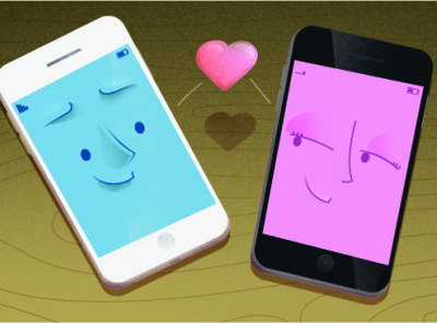 Love on Internet vector magazine print cartoon character astute graphics illustrator illustration
