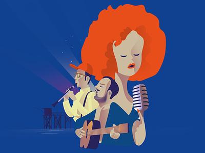 Jazz Festival Illustration vector print astute graphics illustrator festival jazz illustration