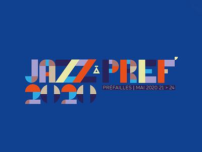 Jazz Festival Logo colors typeface logo design vector illustrator logo