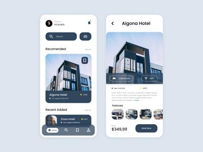 Hotel Booking - App UI D app location people ui design service