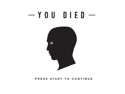 You died illustrator graphics icon type