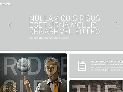 Portfolio responsive web thin type interactive