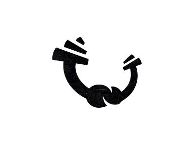 Atlant power fitness gym knot barbell logo design sign mark logotype logo