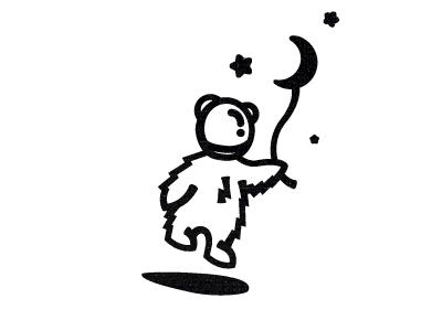 MoonBear agency design moon bear logo design sign mark logotype logo