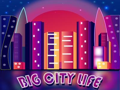 CITY game background landscape night city 2d illustration design vector graphic design