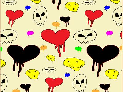 Halloween pattern halloween print pattern 2d illustration design vector graphic design