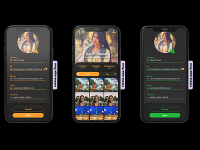 Meet Sarah Parker lol... Tried my hand at a profile screen profile mobile xd ui ux design dailyui