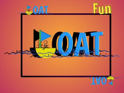 Boat. illustration banner art logo logo design logo