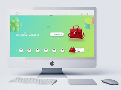 Ladies Handbag Landing Page UI Design branding design ux graphic design ui