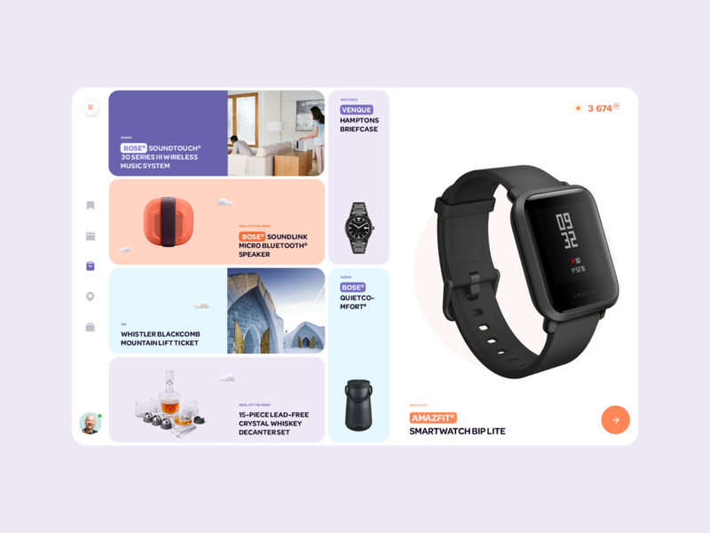 Reward App View thumbnails grid ui designs online tiles dashboard design ui ux product design