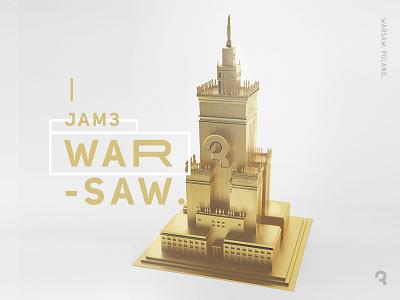 Jam3 Warsaw design branding art gold 3d poland warsaw