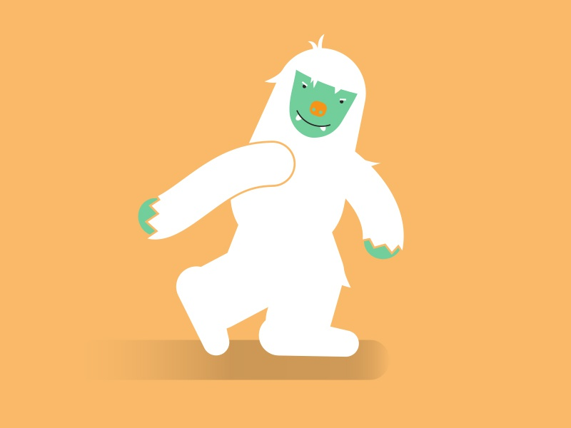 Yeti character monster bigfoot abominable snowman yeti vector illustration
