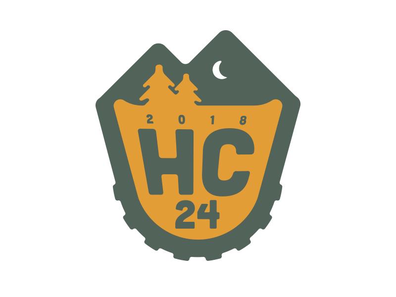 Hardcore 24 mountains trees race mountain biking mountain bike hardcore vector identity logo
