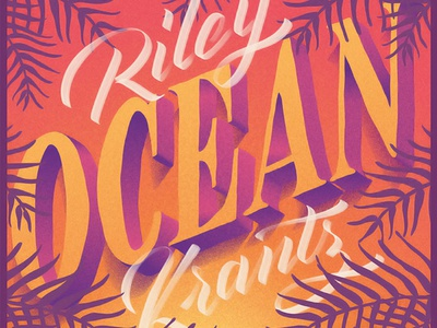 Ocean calligraphy typography lettering cover