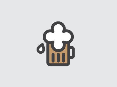 Silly Beer icon beer mug foam