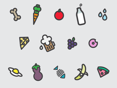 Silly Food Safety Icons icons food beverage safety government shutdown