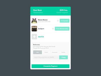 DIY Summary Screen jobs cream payment pricing total web receipt summary