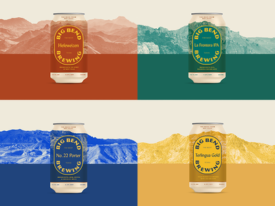 Landscape Cans color photography landscape packaging beer
