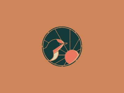 Swallow's Nest Exploration illustration mark identity branding iconography icon sun bird badge