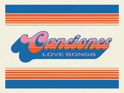 Canciones san antonio pearl event typography retro 70s