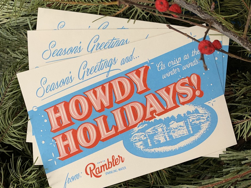 Howdy Holidays! typography howdy postcard holiday