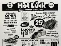 Hot Luck Music Lineup Poster