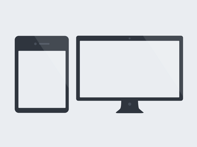 Flat Display & Tablet free tablet display psd download zip mockup mockups file commercial use