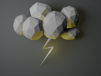 Low-Poly Weather Process