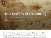 True Lessons of Freelancing