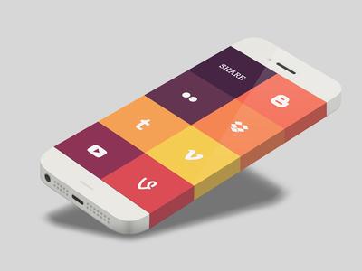 iPhone 6 - Infinity Screen infinity iphone 5 6 ios phone template share share card