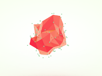 Organic Shape (Animation) c4d cinema4d model r15 logo low poly tut render low poly triangles