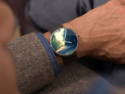 Android Wear  android wear concept watch face style wrist ui flat
