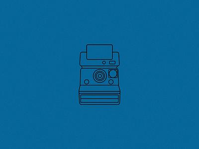Polaroid Camera  icon illustration camera vector line art