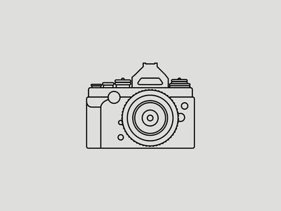 Nikon DF nikon camera icon illustration vector line art