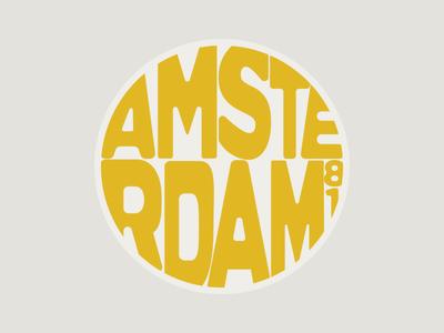 Amsterdam font coaster amsterdam travel custom lettering sketch logo