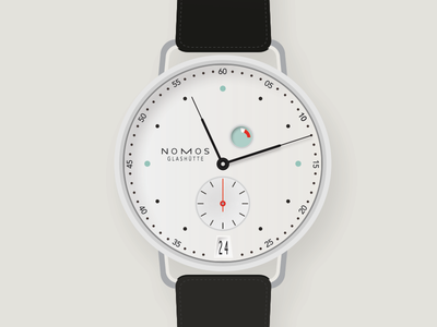Nomos Watch watch illustration nomos clock wrist time face numbers brand