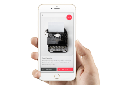 Product Page WIP shopping ios design mobile product design typewriter visual design ui ux product