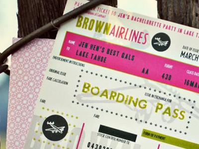 J BROWN • Bachelorette Party Lake Tahoe bachelorette invitation destination
