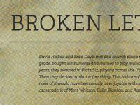 Broken Letters website