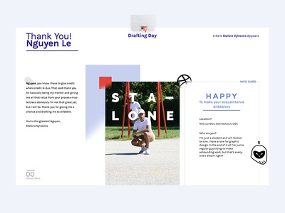 Thank You Nguyen Le, From Stalone debut type typography design ui drafted happy layout