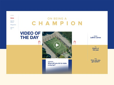 On Being A Champion greatness champion type typography layout ui sports