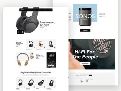 Apollo (concept) homepage ecommerce layout web design ui headphones music