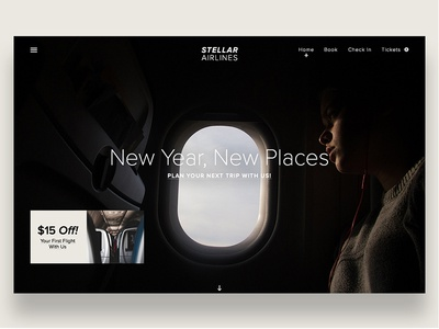 Stellar Airlines layout ux ui travel airplane airline