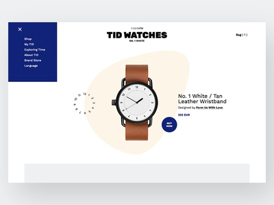 Tid Watches Product Page Redesign (draft) grid watches website ux ui layout product page