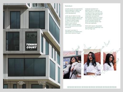 Tennis Court Postcard minimalistic minimal typography layout print . design